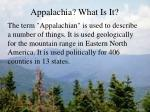appalachia what is it