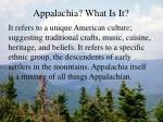 appalachia what is it4