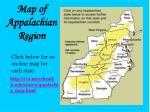 map of appalachian region