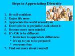 steps to appreciating diversity