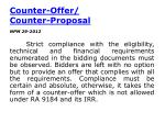 counter offer counter proposal