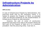 infrastructure projects by administration