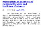 procurement of security and janitorial services and multi year contracts1
