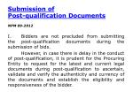 submission of post qualification documents