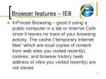 browser features ie854