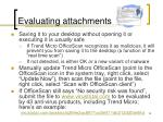 evaluating attachments26