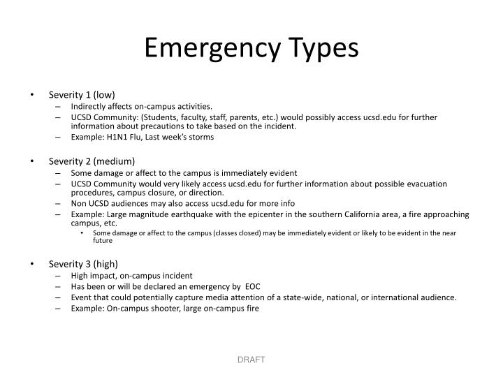 Emergency Types