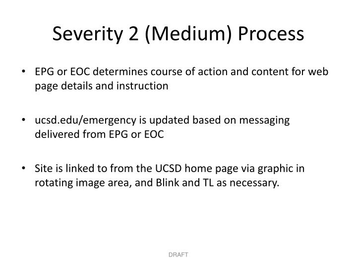 Severity 2 (Medium) Process