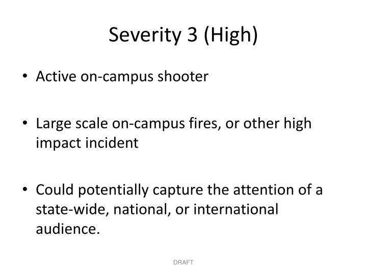 Severity 3 (High)