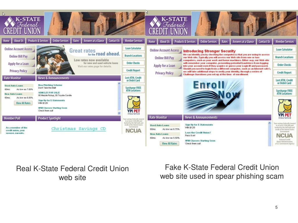 Fake K-State Federal Credit Union