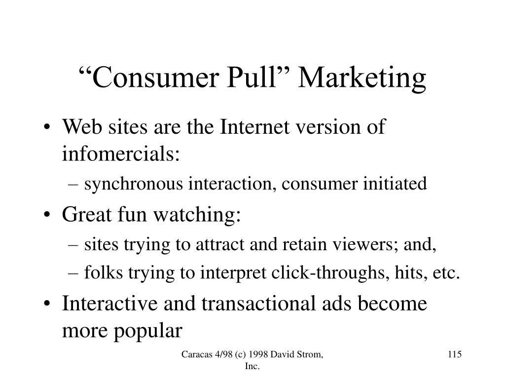 """""""Consumer Pull"""" Marketing"""