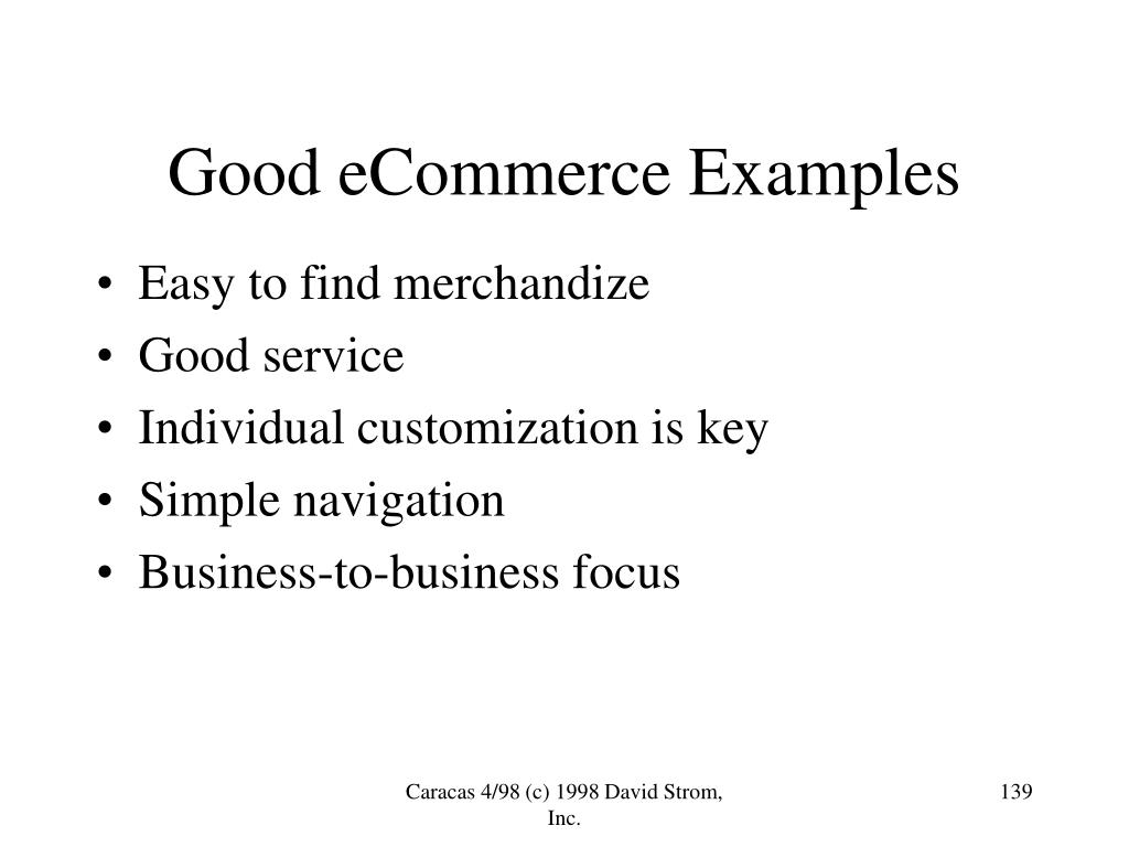 Good eCommerce Examples