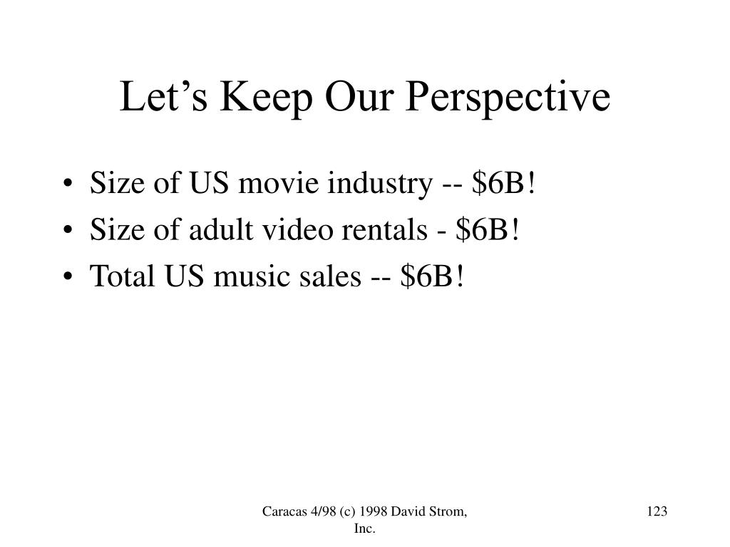 Size of US movie industry -- $6B!