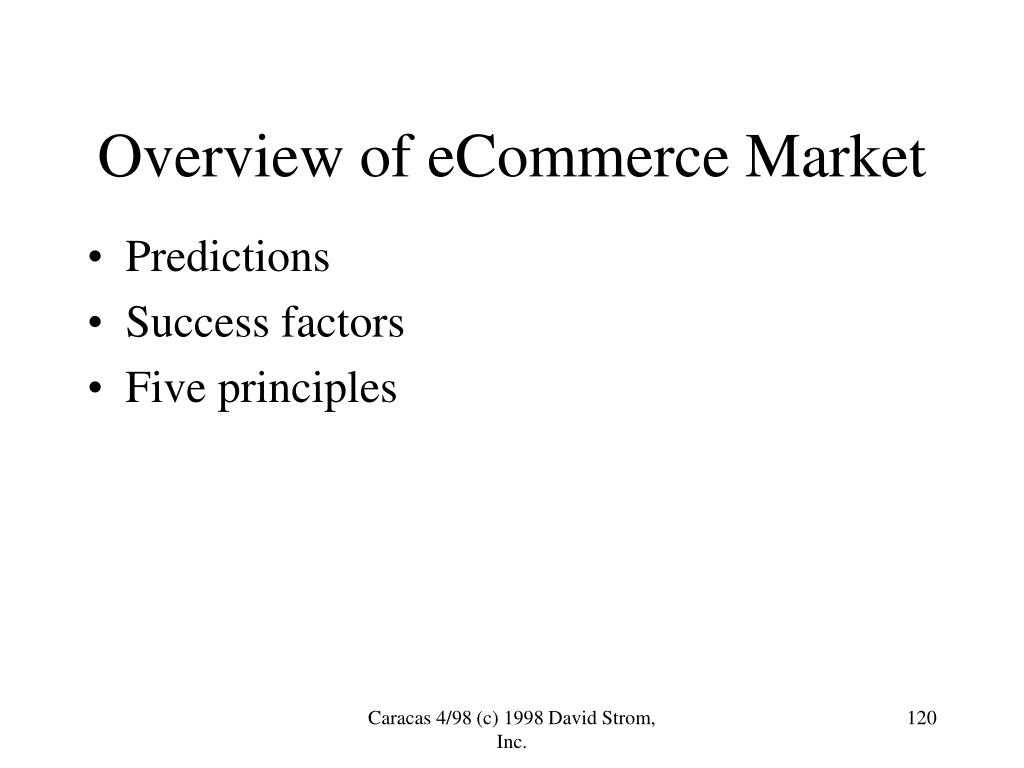 Overview of eCommerce Market