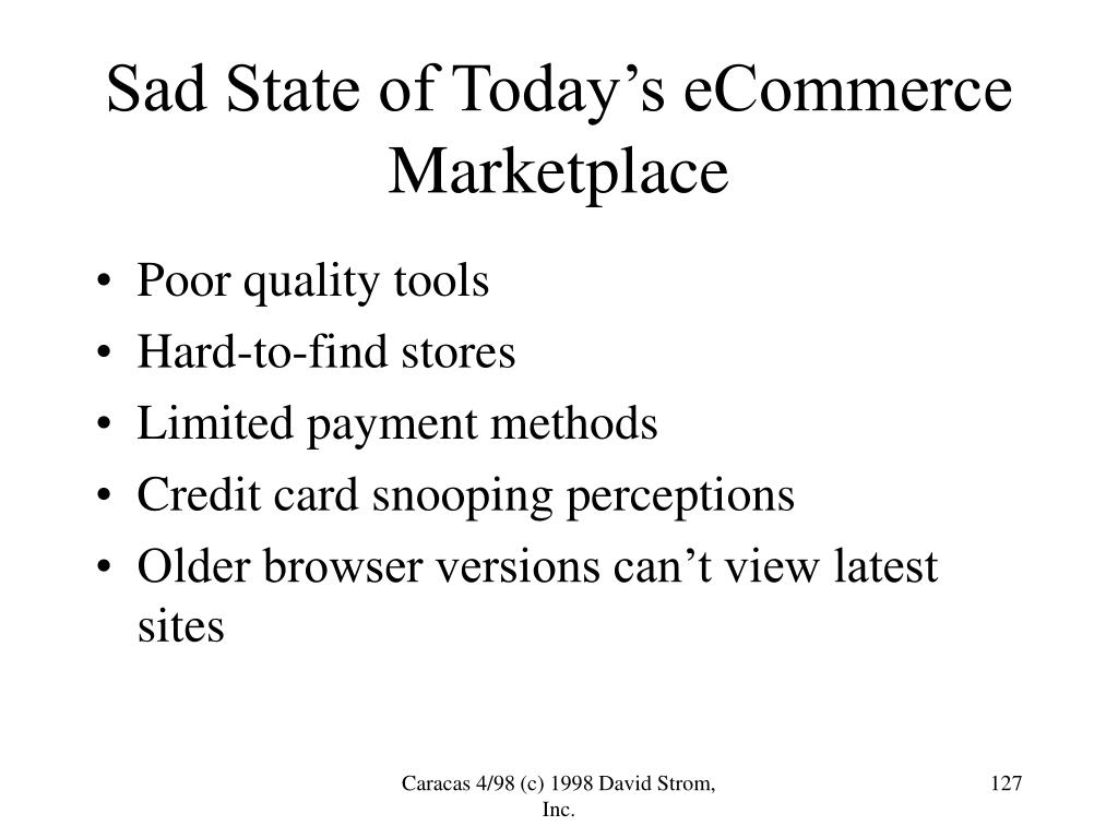 Sad State of Today's eCommerce Marketplace