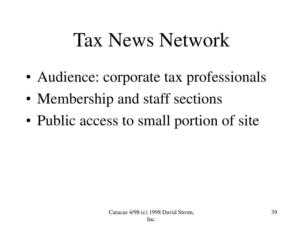 Tax News Network