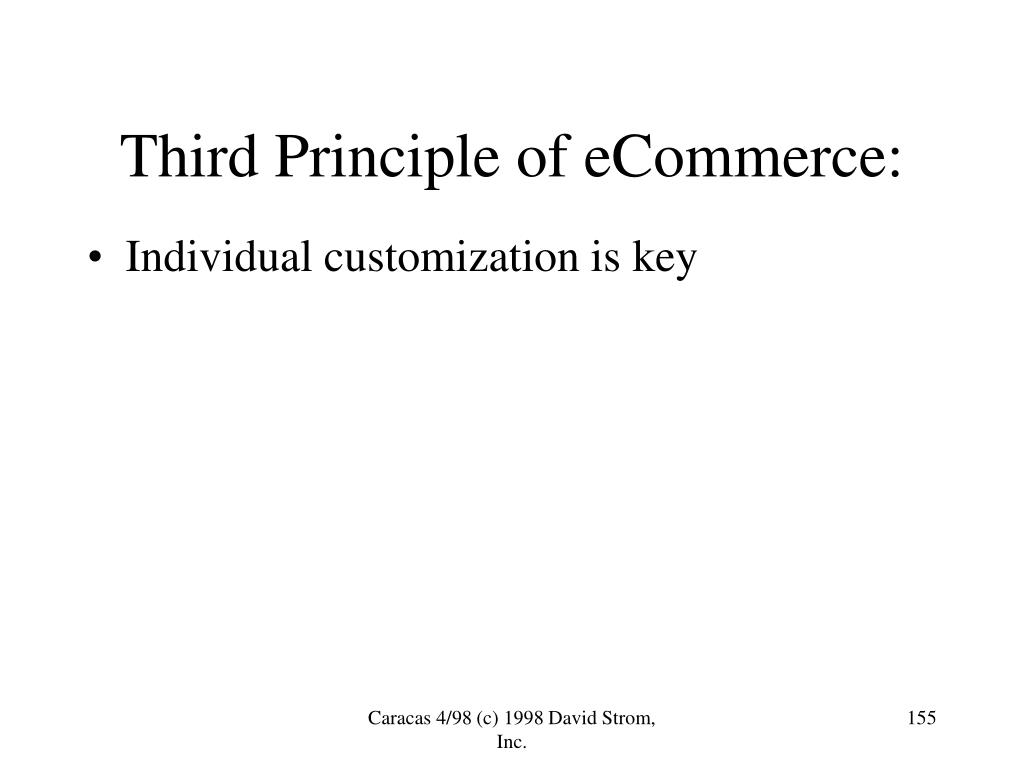 Third Principle of eCommerce: