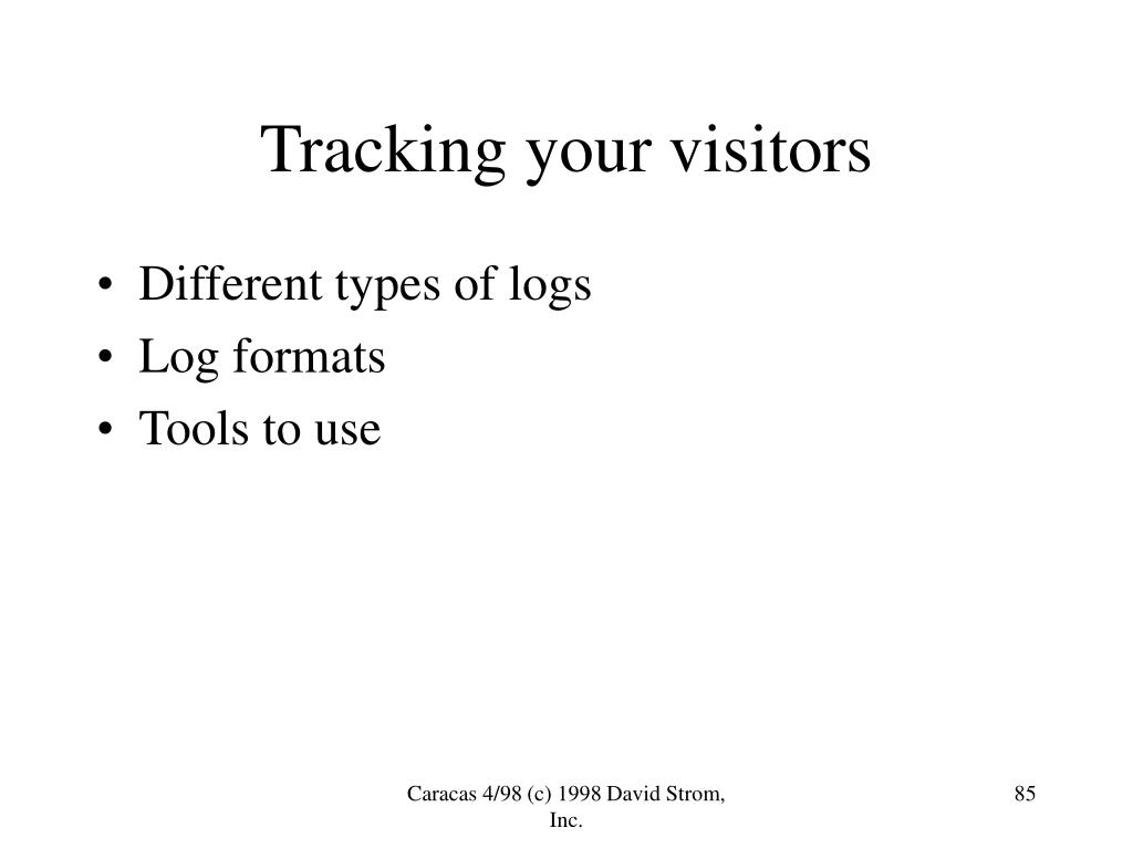 Tracking your visitors