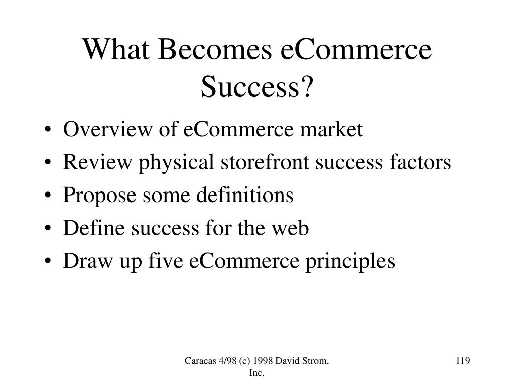 What Becomes eCommerce Success?