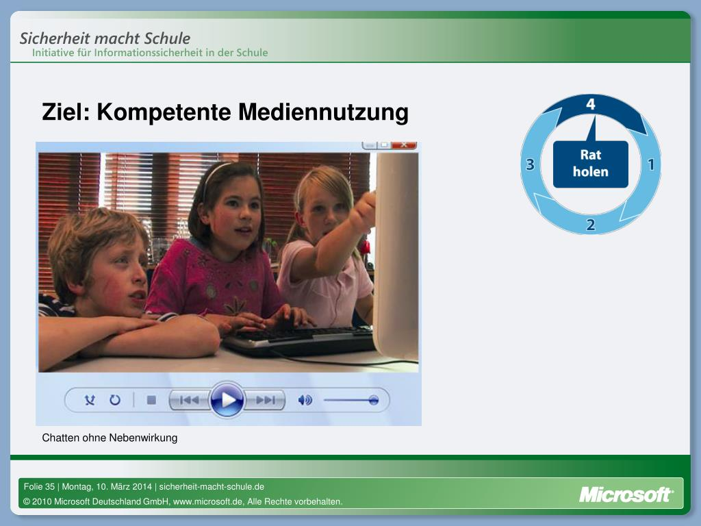 Ziel: Kompetente Mediennutzung