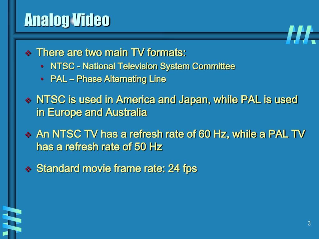 Analog Video