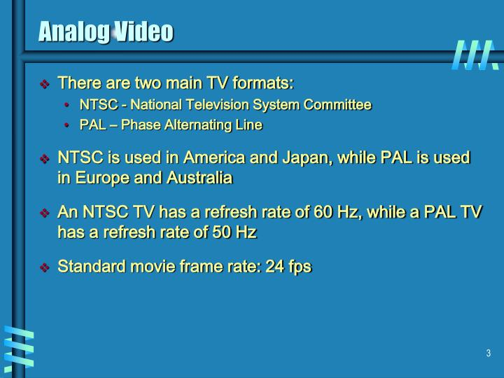 Analog video3