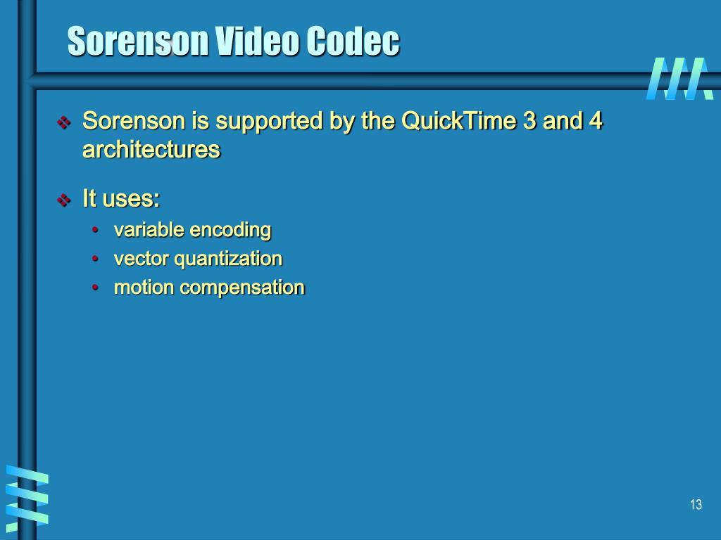 Sorenson Video Codec