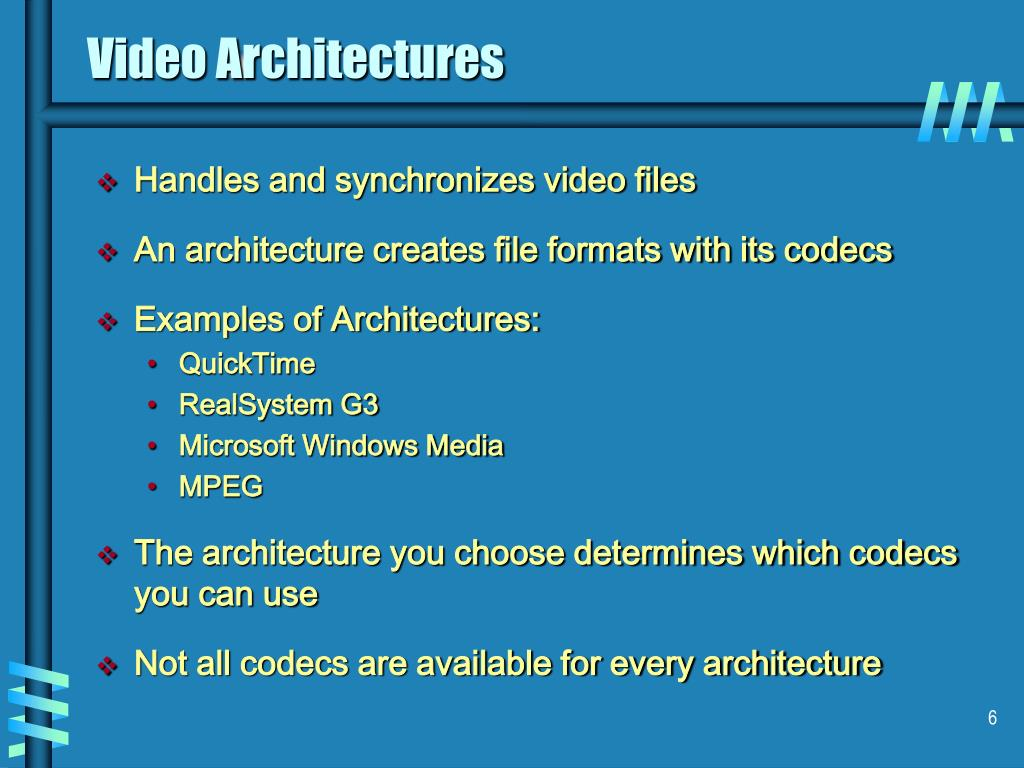 Video Architectures