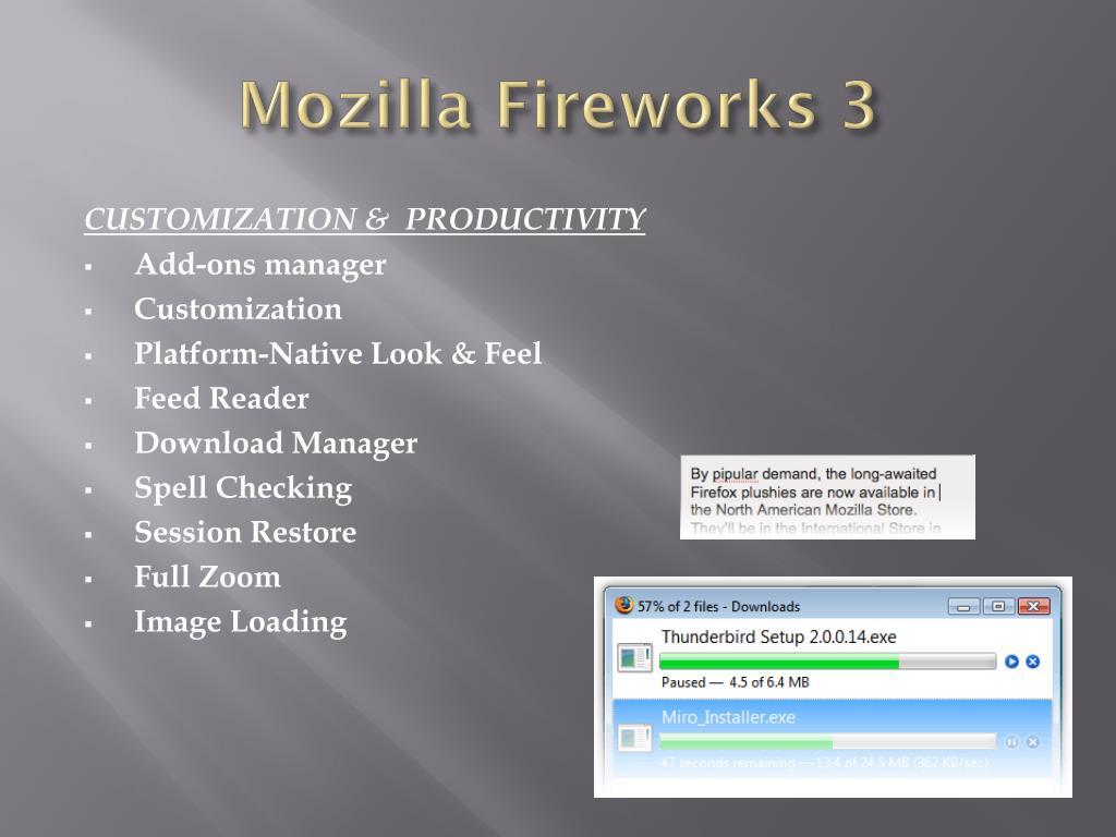 Mozilla Fireworks 3