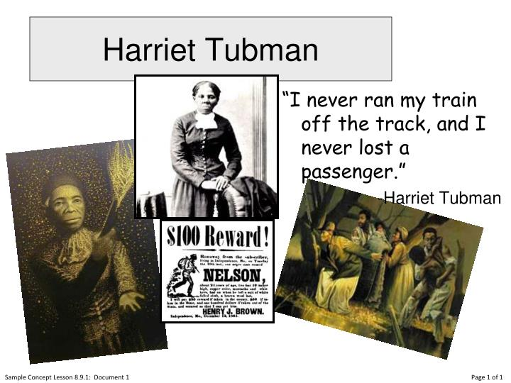 harriet tubman n.