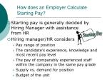 how does an employer calculate starting pay