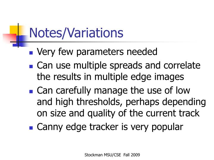 Notes/Variations