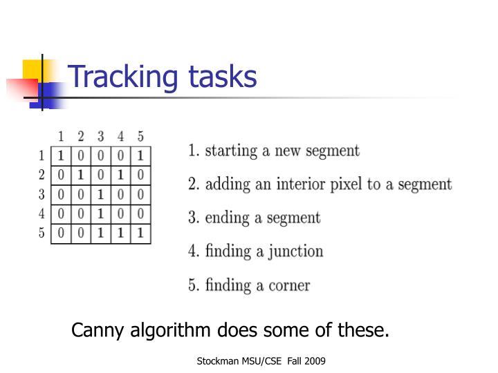 Tracking tasks