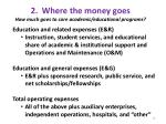 2 where the money goes how much goes to core academic educational programs