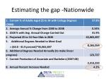 estimating the gap nationwide