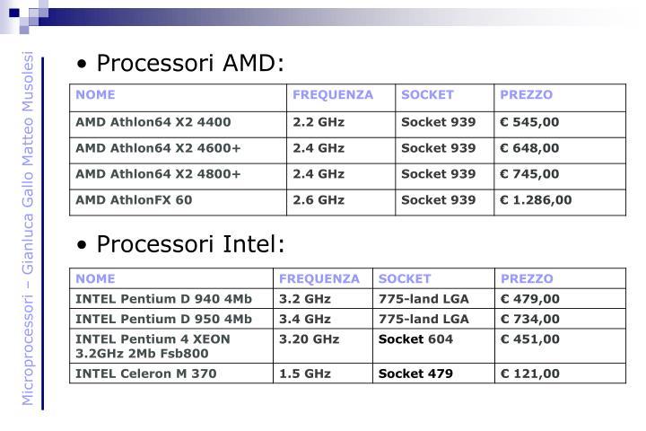 Processori AMD: