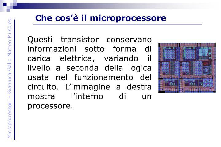 Che cos'è il microprocessore