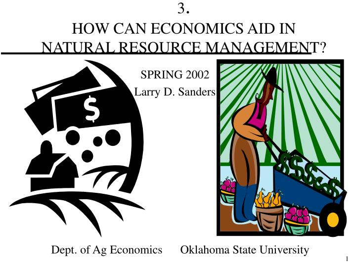 3 how can economics aid in natural resource management n.