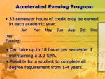 accelerated evening program7