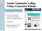 austin community college college connection website