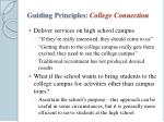 guiding principles college connection