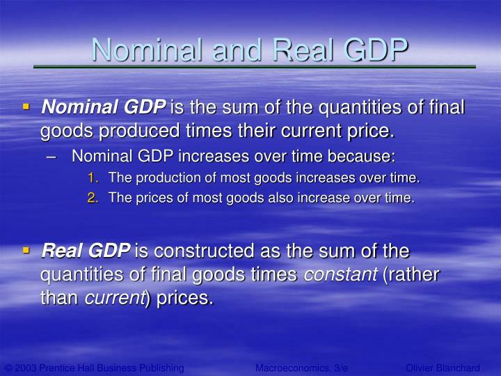 Nominal and Real GDP