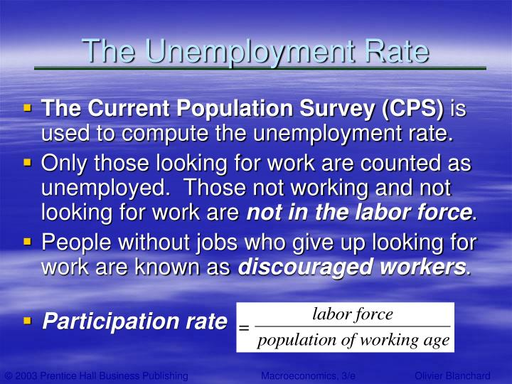 The Unemployment Rate