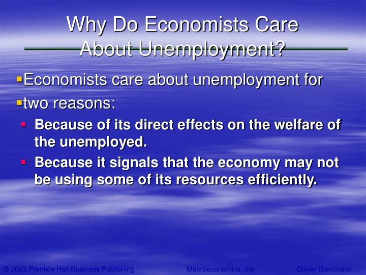 Why Do Economists Care