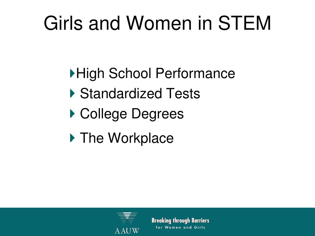 Girls and Women in STEM
