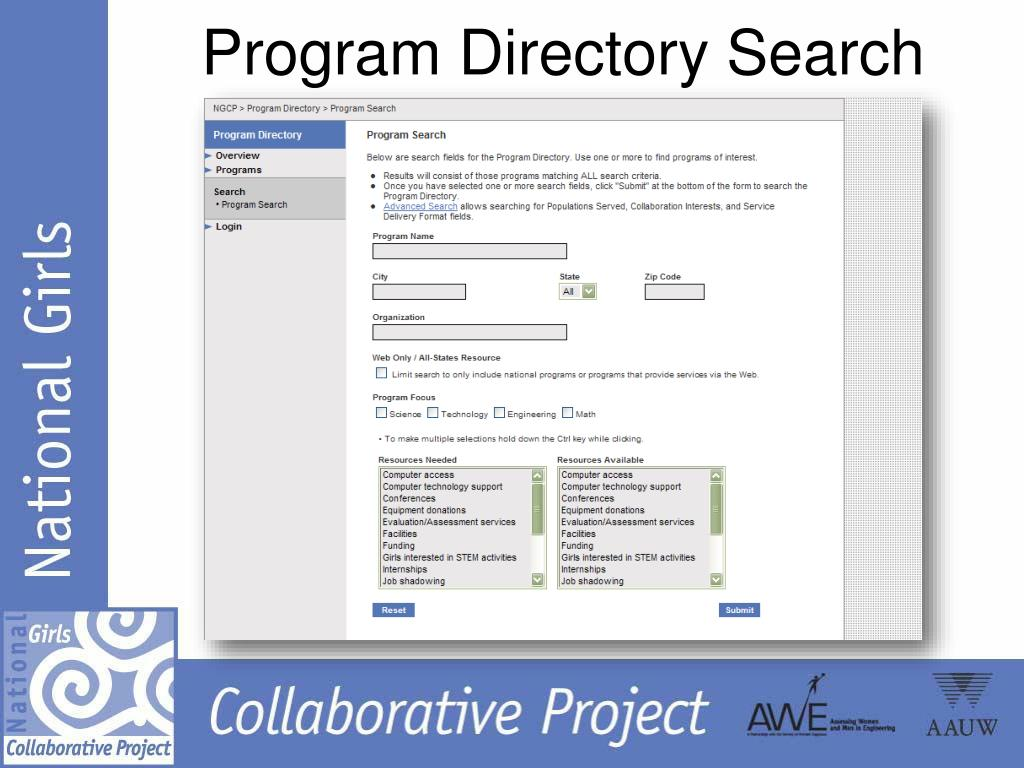 Program Directory Search