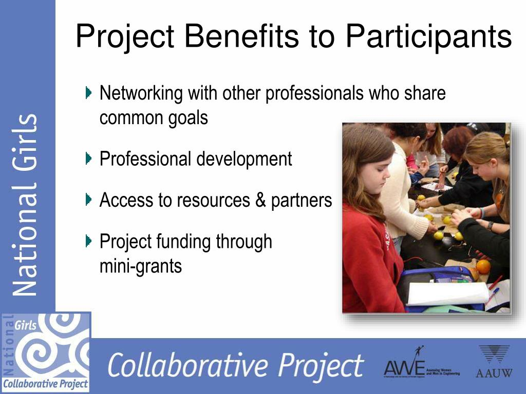 Project Benefits to Participants