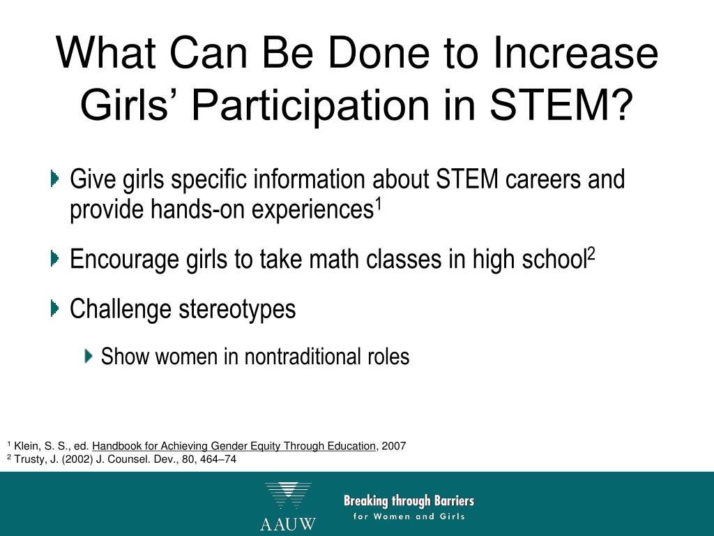 What Can Be Done to Increase Girls' Participation in STEM?