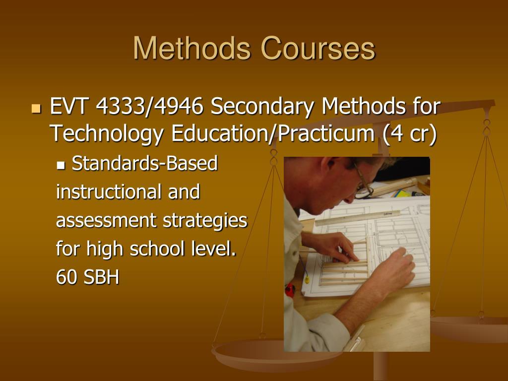 Methods Courses