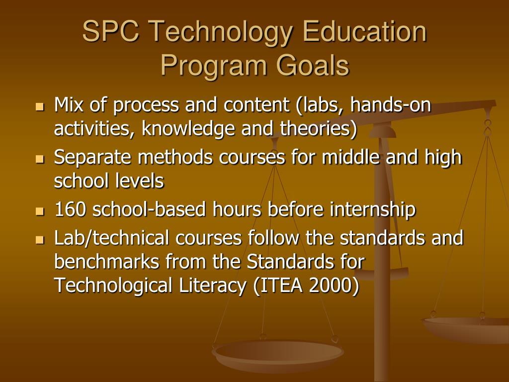 SPC Technology Education Program Goals